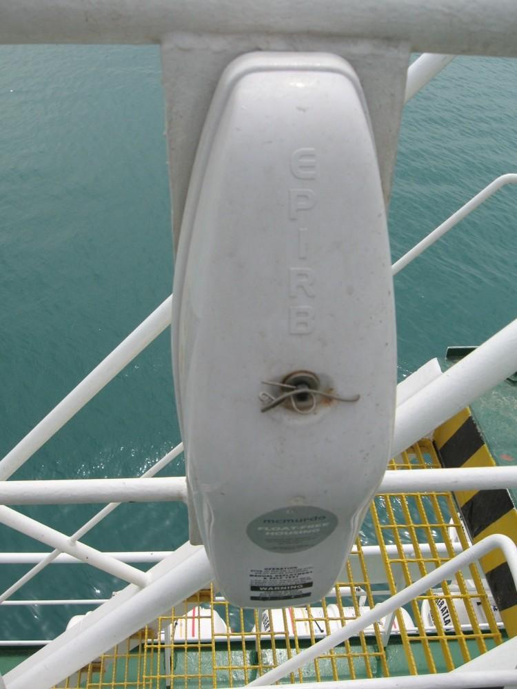 EPIRB fitted on board a vessel - Photo by Sunil Unnikrishnan