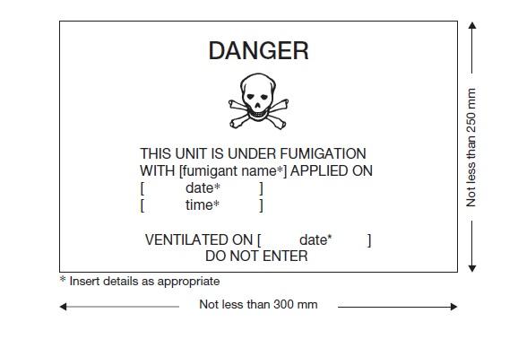 Fumigation warning mark