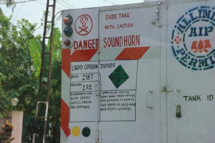 CARBON DIOXIDE, REFRIGERATED LIQUID - Road Tank Vehicle - Photo by Shashi Kallada