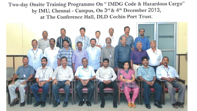 Sitting 3rd from left: Dr. Dr.B.Swaminathan, Faculty-PortManagement, Indian Maritime University