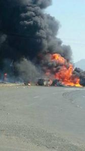 Tanker Accident - India - Ahmedabad-Mumbai national highway
